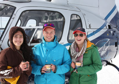 Heli ride & morning tea