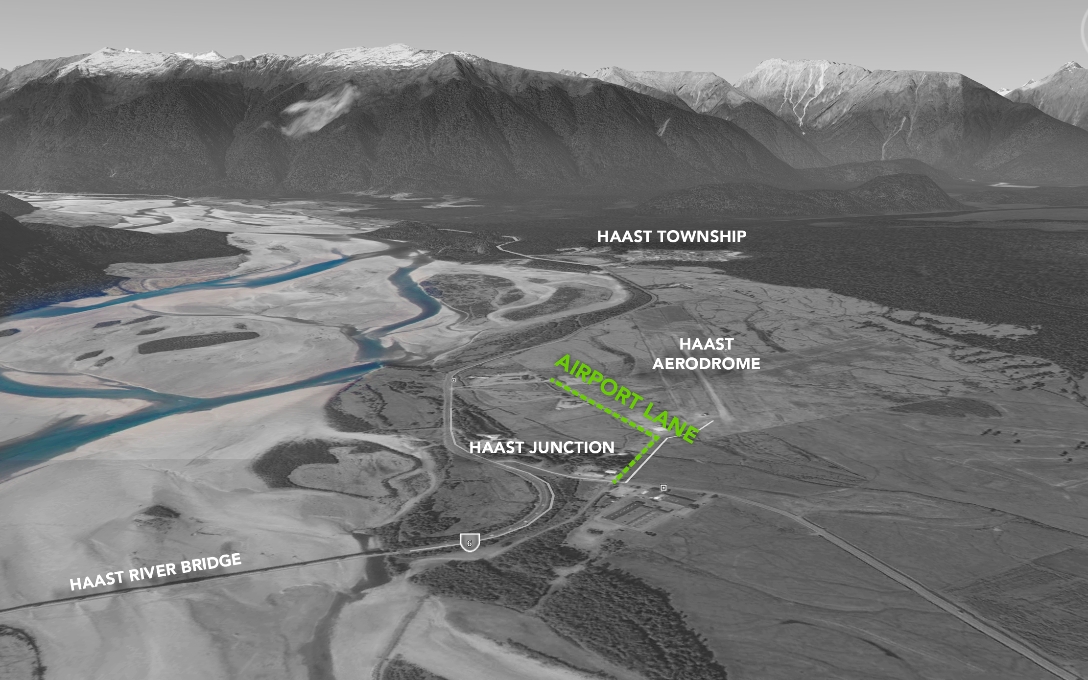 Map of Airport Lane, Haast Junction, HAAST